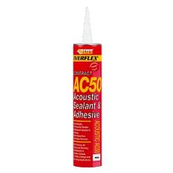 Everbuild AC50 Sealant Acoustic Silicone White 380ml