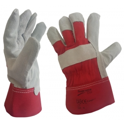Size 10 (XL) Heavy Duty Red Double Palm Rigger Gloves (1 pair)