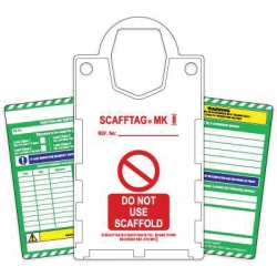 Scaffold Tags (Pack of 10 Holders, 20 Inserts & 2 Pens)