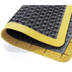 Comfy-Grip Fatigue Mat 900mm x 1200mm – (Black / Yellow Border)