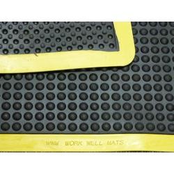 Ergo-Tred Anti Fatigue Mat 600mm x 900mm (Black / Yellow Border)
