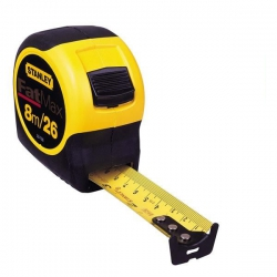 Stanley Dynagrip FATMAX  8M / 26ft Tape Measure 0-33-726