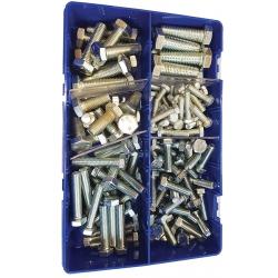 133pce M6-M12 High Tensile Hex Setscrews Kit. Zinc. Kitmaster KM105219