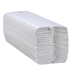 White Flushable Paper Hand Towels, 2 Ply C Fold, 230mm x 95mm (Case of 3150)
