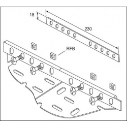 Cable Tray, Couplers 50mm Tray, Pre-Galvanised (Single)