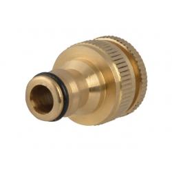 """Faithfull FAIHOSETC Brass Dual Tap Connector 1/2"""" and 3/4"""""""