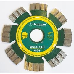 Hardman 115mm Vacuum Brazed Multi Cut Diamond Blade AT70015