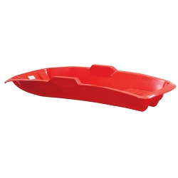 BobKat Red Plastic Sledge with Nylon Rope