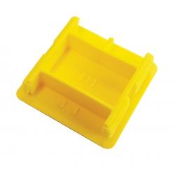 Yellow Unistrut P1 Plastic End Caps 41mm x 41mm Deep Channel