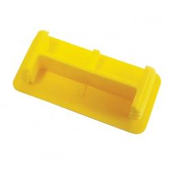 Yellow Unistrut P3 Plastic End Caps 21mm x 41mm Shallow Channel