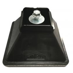 Minifoot 110mm x 110mm x H55mm for 41mm Channel, Black