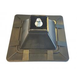 Minifoot 160mm x 160mm x H55mm for 41mm Channel, Black