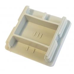 Grey Unistrut P1 end caps for 41mm x 41mm deep channel