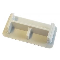 Grey Unistrut P3 Plastic End Caps 21mm x 41mm Shallow Channel
