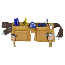 Faithfull Double Tool and Nail Pouch DTNP3