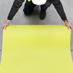 10 Metre x 1 Metre x 2mm Hi-vis Yellow Non Slip PVC Walkway Mat PRCHY2
