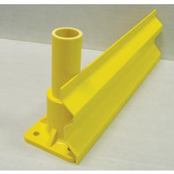 GRP Toe Plate (Kick Plate) 150 x 28 x 3mm W Section 5  Metre Yellow