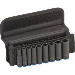 Bosch 9 Piece 1/4 Deep Impact Socket Set 6-14mm 2 608 551 097