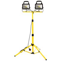 40W Twin Head LED Tripod Flood Light 240V Draper 66059