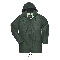 Small Olive Green Portwest Classic Rain Jacket