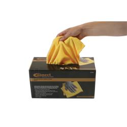 Yellow Micro Fibre Cloths in Dispenser (Box of 50) 37310