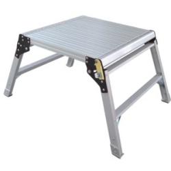 Aluminium Hop-Up Work Platform, 600x600mm Platform, 470mm Height