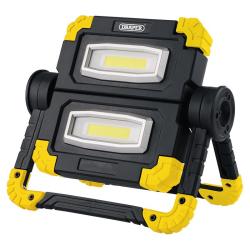 Draper 2 x 10W Adjustable Rechargeable LED Work Light 87696