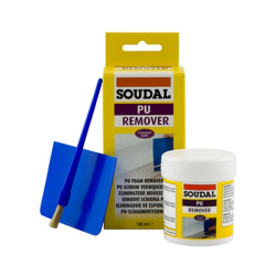 Soudal Cured PU Foam Remover 100ml with Spatula and Brush 115778