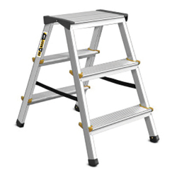 3 Tread Double Sided Aluminium Steps Drabest DD3150