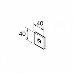 SB506/12 P1064 M12x40x5 Square Plate 14mm Hole, Unistrut compatible, A4 Stainless Steel