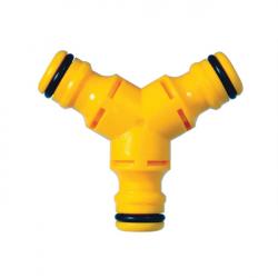 "Hozelock HOZ2293 Plastic Male 3 Way Hose Connector Standard 1/2"""